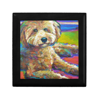 Cute LABRADOODLE Gift Box