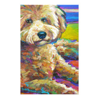 Cute LABRADOODLE Stationery