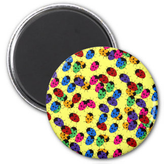 Cute Lady Bug Design 2 Inch Round Magnet