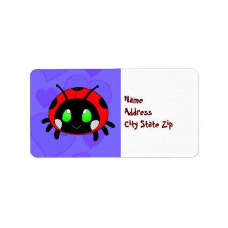 Cute Lady bug Label