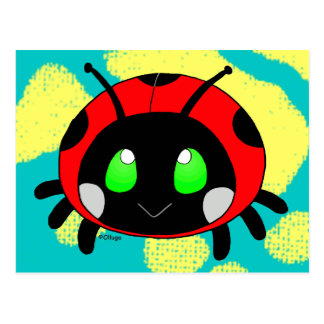 Cute lady bug postcard