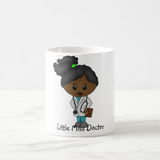 Cute Lady Doctor  Mug - Black / African