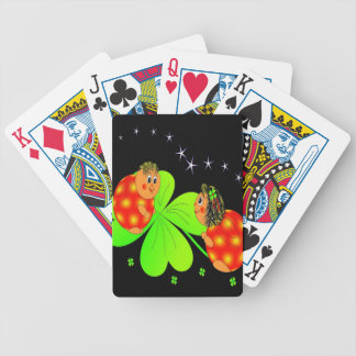 Cute Ladybird Shamrock Bicycle Playing Cards