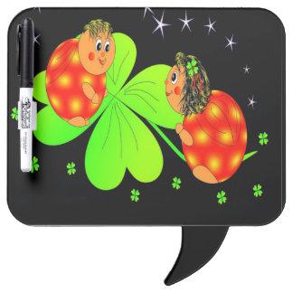 Cute Ladybird Shamrock Dry Erase Board