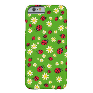 cute ladybug and daisy flower pattern green barely there iPhone 6 case
