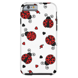 Cute Ladybug and Hearts Pattern Tough iPhone 6 Case