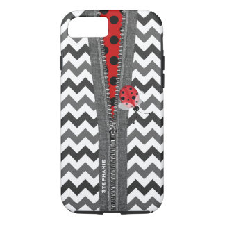 Cute Ladybug and Zipper iPhone 7 case