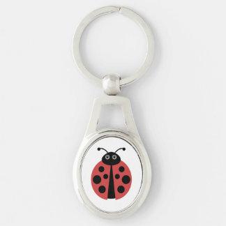 Cute Ladybug Animal Print Keychain