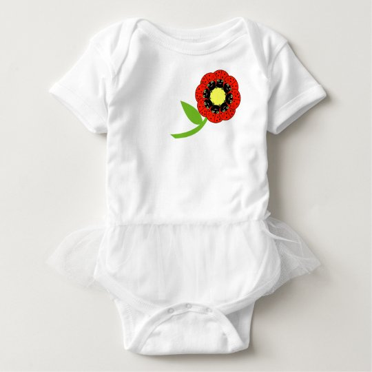 cute ladybug BIRTHDAY PARTY baby girl gift Baby Bodysuit