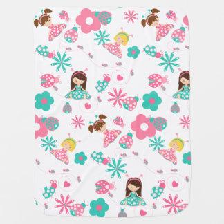 Cute Ladybug Girls Personalized Baby Blanket