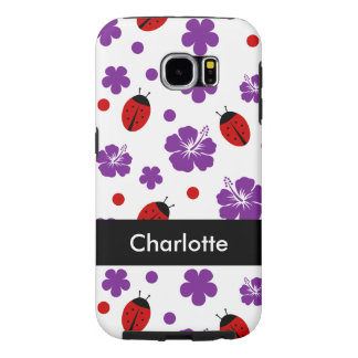 Cute Ladybug Monogram Samsung Galaxy S6 Case