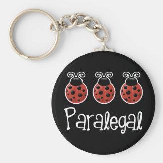Cute Ladybug Paralegal Gift Keychain