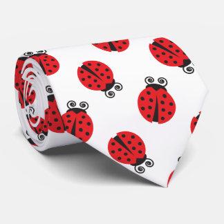 Cute Ladybug Pattern Tie