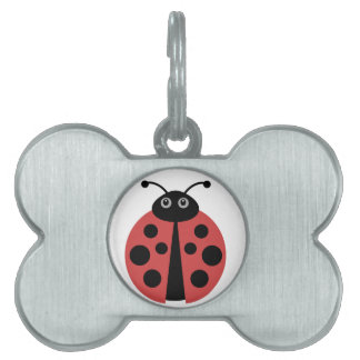 Cute Ladybug Pet Name Tag