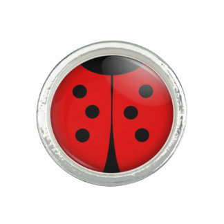 Cute Ladybug Photo Ring