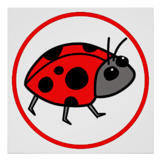 Cute Ladybug Posters