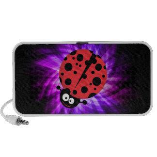 Cute Ladybug; Purple Speaker System