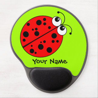 Cute Ladybug Red and Green Gel Mouse Pad