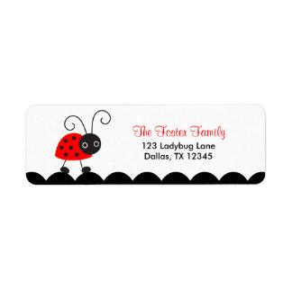 Cute Ladybug Return Address Labels