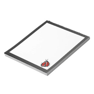 Cute Ladybug; Sleek Notepad