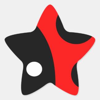 Cute ladybug star sticker