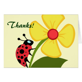 Cute Ladybug Thank You Card