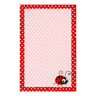 Cute ladybug writing paper custom stationery