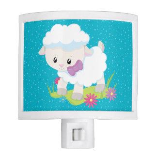 Cute lamb * choose background color night lites
