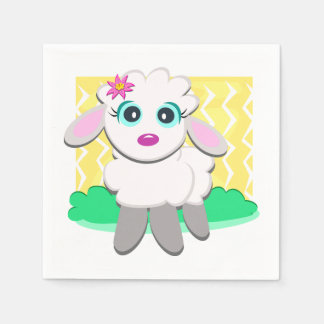 Cute Lamb Paper Napkins
