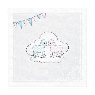 Cute Lambs Canvas Print