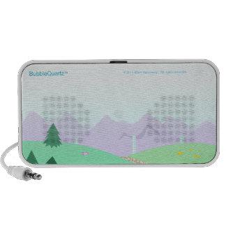 Cute landscape Doodle speaker