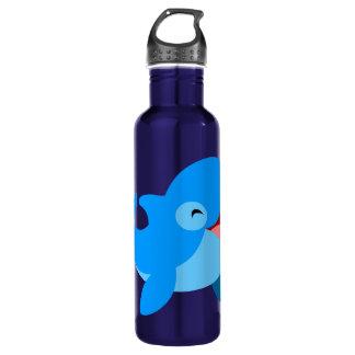 Cute Laughing Cartoon Dolphin 710 Ml Water Bottle