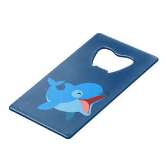Cute Laughing Cartoon Dolphin Wallet Bottle Opener