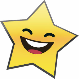 Cute Laughing Smiling Star Power Photo Sculptures