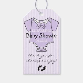 Cute Lavender Baby Shower Guest Favor- Thank You Gift Tags