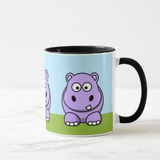 Cute Lavender Hippo Mug