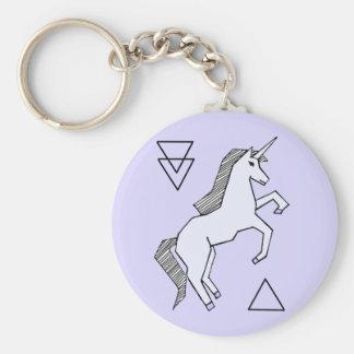 Cute Lavender Purple Unicorn Keychain