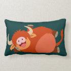 Cute  Lazy Cartoon Highland Cow Pillow