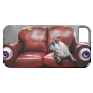 Cute Lazy dog on sofa iPhone 5 Cases