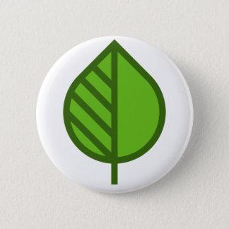 Cute Leaf 2 Inch Round Button