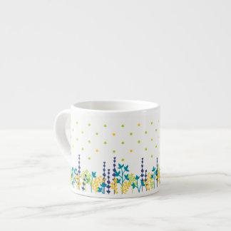 Cute leaf polka dot cup
