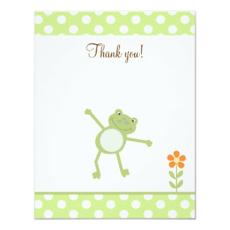 Cute Leapfrog Leap Froggy Thank you flat card