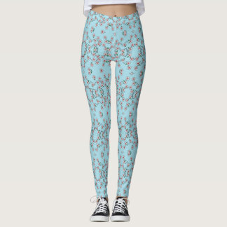 Cute Legging Yoga Pant Workout Pant FLOWERS WHITE