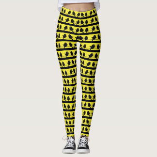 Cute Legging Yoga Workout Pant BIRD YELLOW