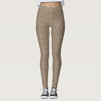 Cute Legging Yoga Workout Pant BUTTERFLY BROWN