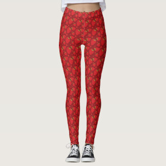 Cute Legging Yoga Workout Pant FOOD STRAWBERRY