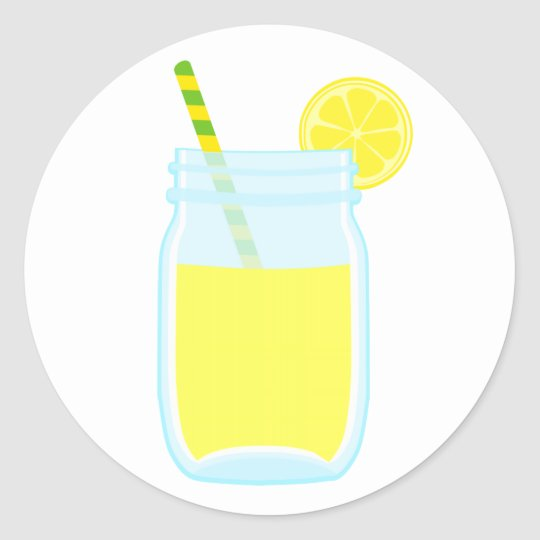 Cute Lemonade Classic Round Sticker
