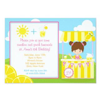 Cute Lemonade Design with Girl Card