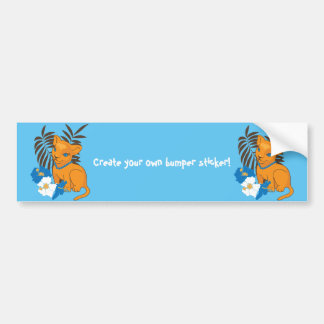 Cute Leo baby cartoon illustration Bumper Sticker