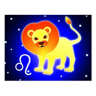 Cute Leo Zodiac Postcard